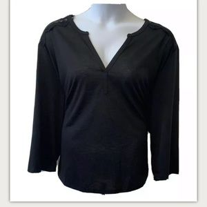 NWT H&M 3/4 Sleeve V-Neck Blouse Top
